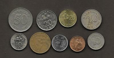 MALASIA  Lote de 9 monedas  /   LOT  9  Coins