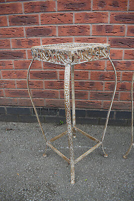 metal stands , hand painted shabby chic