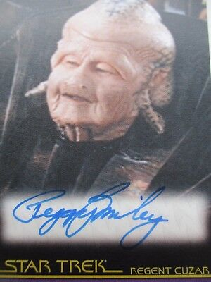 star trek trading card no a103 peggy miley signed card