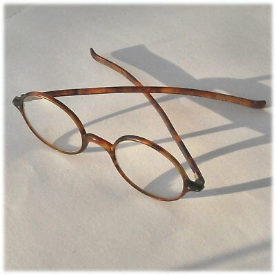 Un-named Vintage Faux tortoise shell spectacles glasses with lenses. shape round