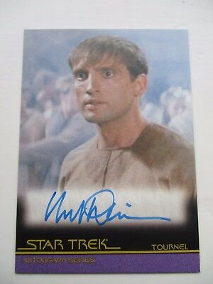 star trek trading card no a102 mark deakins signed card