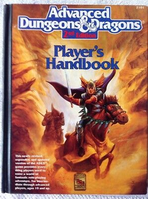 AD&D 2nd Edition Player's Handbook - TSR 2101 1989 Dungeons and Dragons