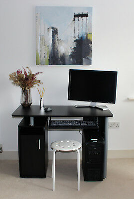 Large Corner Computer Desk With 3 Drawers