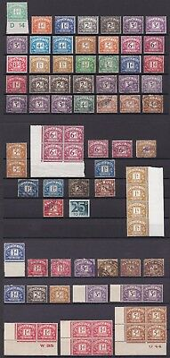 Lot:23467  GB Postage Due selection used/mounted mint and control margins