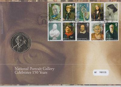 GB 2006 National Portrait Gallery, Royal Mail/Mint Numismatic FDC