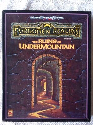 AD&D Forgotten Realms THE RUINS of UNDERMOUNTAIN Boxed Set TSR 45010