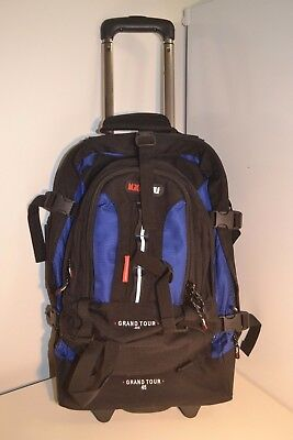 Black Wolf Grand Tour 45L Wheeled Travel Pack & Daypack Backpack Luggage