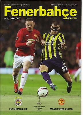 2016/17    Fenerbahce    v    Manchester United   x 10 Copies   MINT