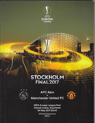 2016/17   Ajax  v  Manchester United   Europa League Final  MINT   FREE POSTAGE