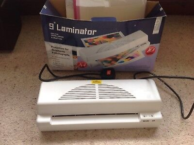 """9 """" laminator with plastic pouches"""