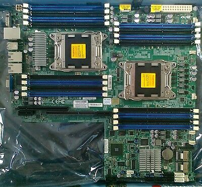 Supermicro X9DRW-3F dual LGA2011-0 Server Board 2x E5-2609 32GB PC3-10600R