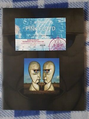 Pink Floyd - The Division Bell tour programme & ticket stub