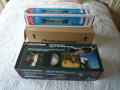 Celestron Ultima 65 45 Degree Angled Spotting Scope + hama STAR 75 tripod