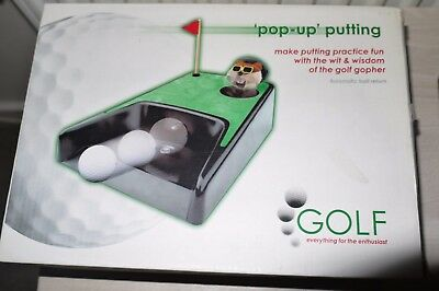 Golf Pop Up Putting Cup With Pop Up Talking Gopher