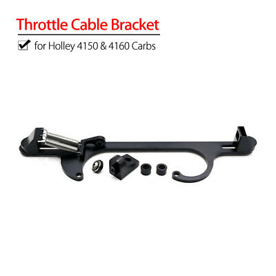 Universal Car Truck Throttle Cable Bracket Fits Holley 4150&4160 Carbs Aluminum
