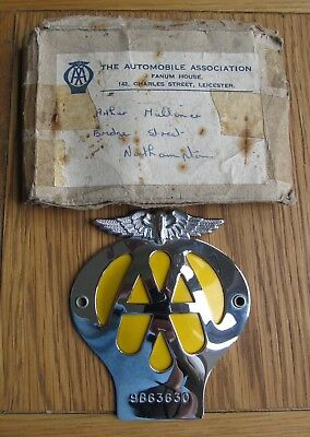AA Car Badge Purchased 1962 But never Used