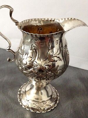 Lovely Solid Silver Georgian Cream Jug London 1781