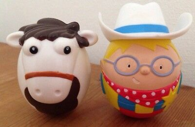 Nestle MILKY BAR KID AND HORSE WEEBLES SET collectable FREE P&P