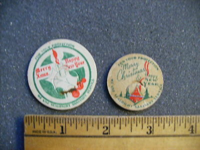 Two Different Christmas Theme Milk Bottle Caps - Free Shipping!