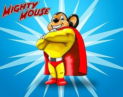 Mighty Mouse Superhero '60's-'70's Cartoon Looney Sticker or Magnet