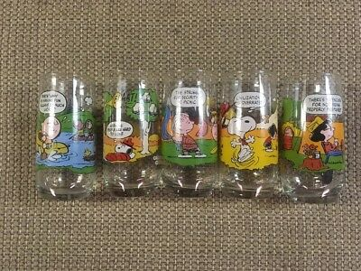 1983 McDonalds Camp Snoopy Limited Collector series Glasses Set of  5 Tumblers