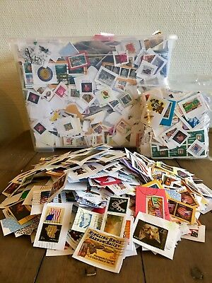 300 grams/10.5 oz USA, US kiloware /stamp mixture. 750+ stamps for just $1.99!