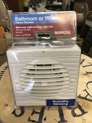 "Manrose 4"" Humidity Extractor Fan"