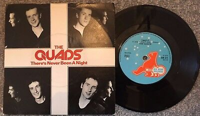 """The Quads (Rare Mod) ''there's Never Been A Night'' Picture Sleeve 7"""" Record"""