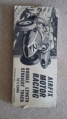 Airfix vintage motor racing track in original box plus 3 cars