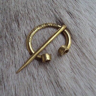 Brass Pre-Medieval Style Cloak Pin - Re-Enactment Or LARP Use
