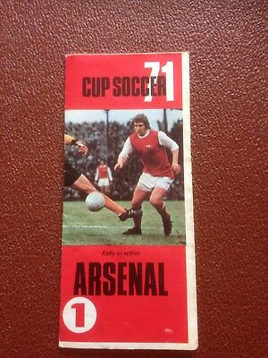 Arsenal fc - CUP SOCCER 71   Foldout / Brochure / Programme - the double year