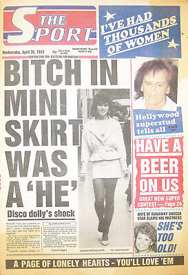 Daily Sport 26 Apr 89 : Debee Ashby, Sally-Anne, Face of 89 girls + more