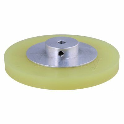 300x6mm Aluminum Silicon Meter Encoder Wheel for Rotary Encoder Yellow