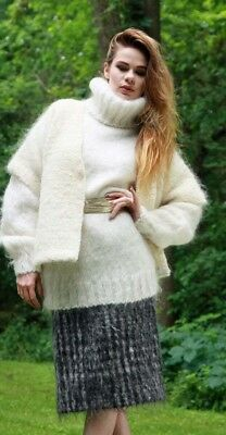 MOHAIR SWEATER & VEST with MOHAIR SKIRT