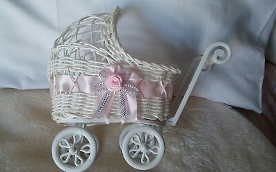Ornamental baby Carriage for display only. suitable for doll or bear display
