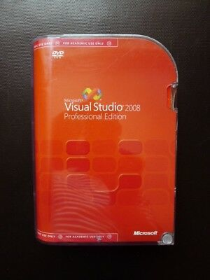 Microsoft Visual Studio 2008 Professional DVD C5E-00289 (FOR ACADEMIC USE ONLY)