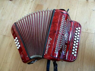 Paolo Soprani Button Accordion in F/Bb