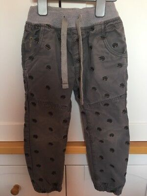 Boys Next Grey Car Motif Lined Jogger Trousers Age 4 To 5 Years