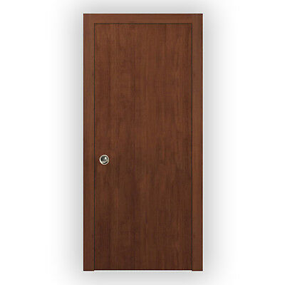 Planum 0010 Interior Pocket Sliding Closet Door Walnut Modena with Frames Trims