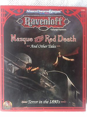 Masque of the Red Death Ravenloft Advanced Dungeons And Dragons TSR RPG Box Set