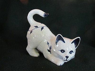 The Potting Shed Dedham Pottery Cat Figurine