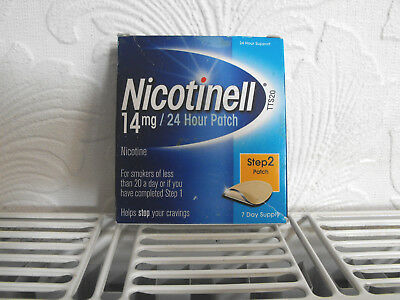 Nicotinell Patches  14mg  x 7 Per Box  - 24 Hour Patches - Step 2 Expiry 04/2019