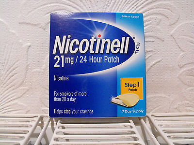 Nicotinell Patches  21mg  x 7 Per Box  - 24 Hour Patches - Step 1 Expiry 05/2018