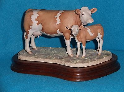 Border Fine Arts:  Simmental Cow & Calf   L103