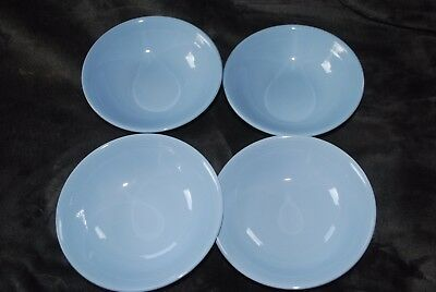 4 iris woods ware bowls eggshell blue colour