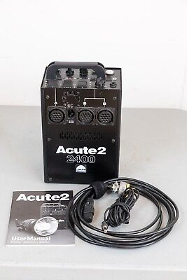 Profoto Acute 2 2400 Power Pack  perfect working order, manual, pwr/sync cord,