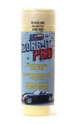 "Zorb-It Pro Premium Jumbo Drying Cloth/chamois + Tube - 24"" X 30"" Sx-720T *new*"