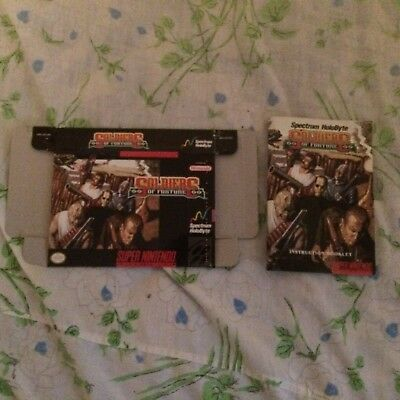 Snes Soldier of Fortune Box and Manual Only