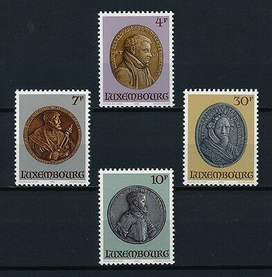 Luxembourg 721-4 MNH, Portrait Medals, 1985