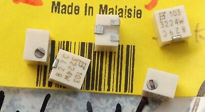 Bourns 3214W Series 5-Turn SMD Trimmer Resistor ; lot of 5 parts